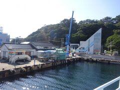 勝浦港のターミナルに着きます。(10月10日) 飛島は次回のブログに続きます。