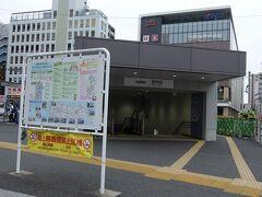 調布駅北口. ここからバスで行きます.