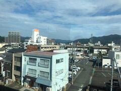 福知山駅から市街地。