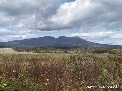 樽前山が、はっきりと見えました。 あの山の向こうに、以前訪れた支笏湖があります。