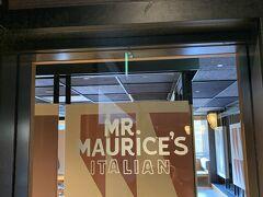 MR.MAURICE'S ITALIAN@エースホテル https://www.mrmauricesitalian.com/  pacorin父がランチをご馳走してくれるというのでホイホイやってきました。エースホテル側から入店したら、あまりのオシャレ感に母が「なんか一人でよう入れへん雰囲気やわ~」と言ってました。