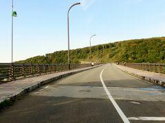 腹ごなしもしたので,城ヶ倉大橋へ出発!!  暖かくって風が吹いていないので,いい感じに観光できそうです。