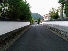 堀内といわれる旧萩城三の丸地域に