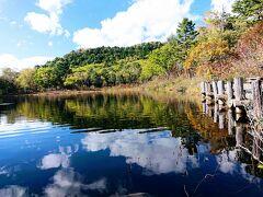 一沼です。 琵琶池の駐車場から10分もかからず来れます。 奥の小山は旭山。