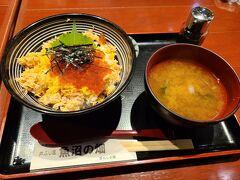 昼食。越後湯沢駅にて。 お米がおいしいので丼がおいしいです。 でも越後湯沢駅ではお寿司屋とへぎそば屋が人気なようですね。