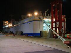 この日は、深夜2時30分函館発青森港行きのフェリーに乗船