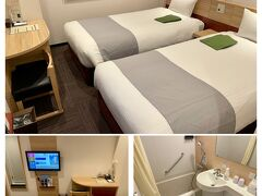 客室は少し狭い。  くれたけインプレミアム袋井駅前 http://www.kuretake-inn.com/fukuroi/