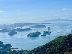 亀老山展望台からの素晴らしい景色