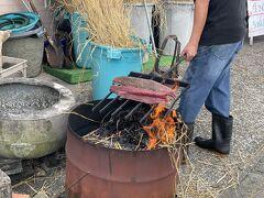 ランチをいただきに宮本鮮魚店さんへ 本格的にカツオのタタキを作ってくれます