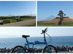 """""""ふじのくに田子の浦みなと公園""""に来ました。 公園の中を自転車を押しながらウロウロ…。"""