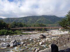 長さ146メートルの吊り橋