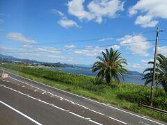 南国感あふれる錦江湾沿いを走ります。