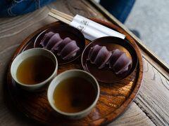 赤福本店で赤福!お茶もとっても美味しかったです。