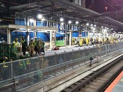 「渋谷駅」に戻ってきました☆  まだまだ工事は続くよ、どこまでも。笑 月曜日から通常運行予定です。  無事に帰宅☆ ご苦労。笑