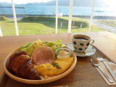 WAKKAで朝食。 朝焼けをみながらゆっくりすごしました。