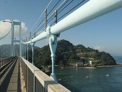 「とびしま海道」のっけから海上爽快サイクリング。