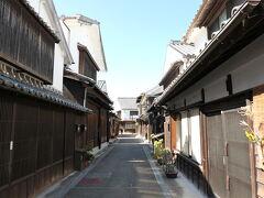 江戸時代の面影が残る「常盤町とおり」。