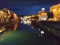 夜の運河。綺麗ですが、人いません。今だけこの景色独り占め(^-^)