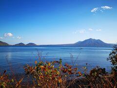千歳空港に帰る途中、支笏湖に立ち寄り。