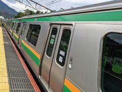 東海道線に乗って、帰路に就きます。