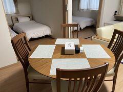 富良野ではアパートメント型の部屋に宿泊しました。