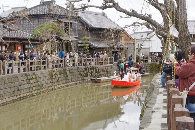 小野川沿いの歴史的町並み