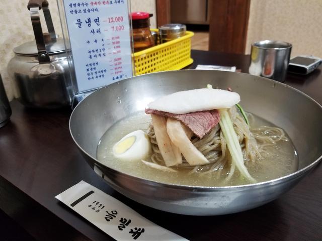 氷スープが絶品の冷麺「乙密台」