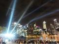 シンガポール新夜景スポットと「ワンダフル」ショー鑑賞<サンズ・スカイパーク展望台/夜>